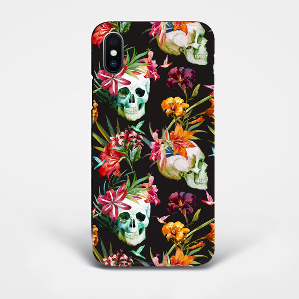 Floral-Skull-iPhone-Case