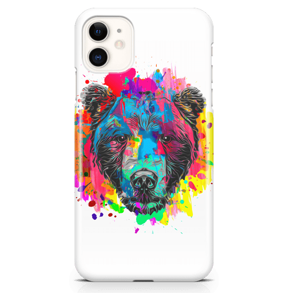 Abstract Bear iPhone Case