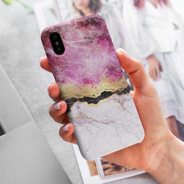 Fuschia-Marble-Case