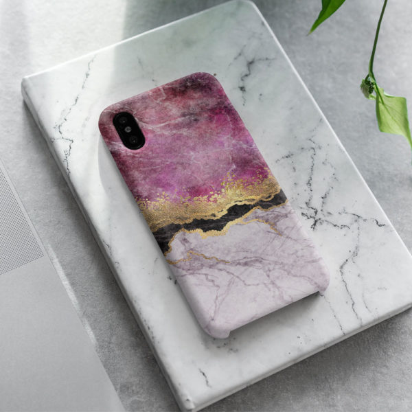 Fuschia-Marble-iphone-Case