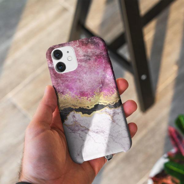 Fuschia-Marble-phone-Case