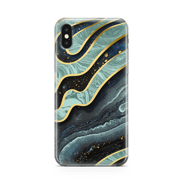 Golden Waves-iPhone Case