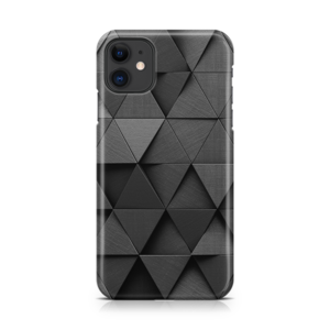 Monochrome Triangles iPhone Case