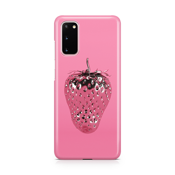 Strawberry Silver Samsung Phone Case