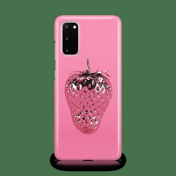 Strawberry Silver Samsung Phone Case