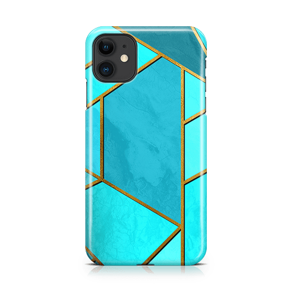 Moderna Teal iPhone 11 Case-min