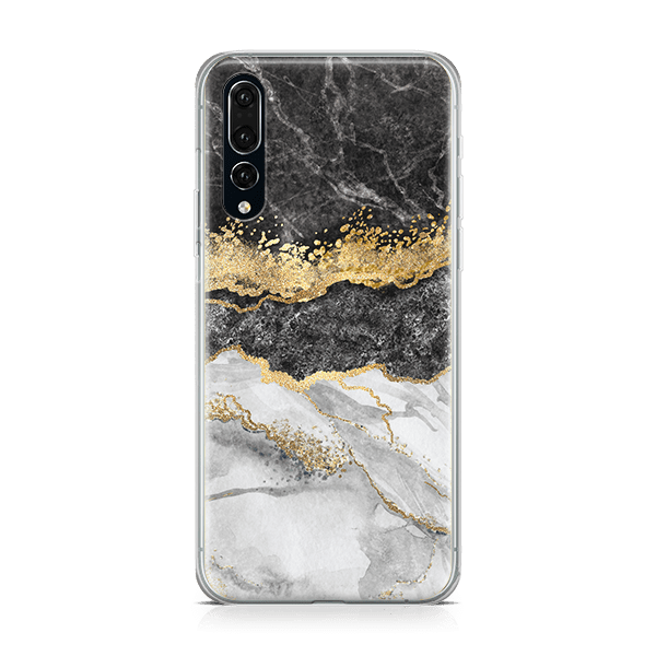 Black & White Marble Split iphone 11 case