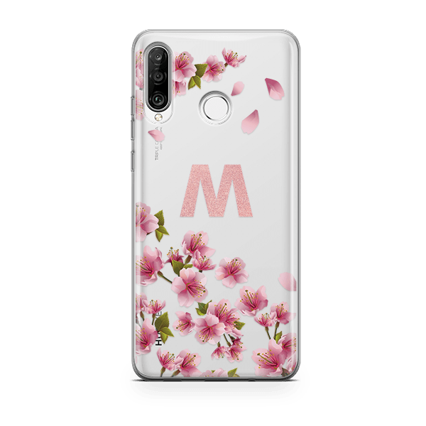 Cherry Blossoms Monogram Huawei P30 Lite Case