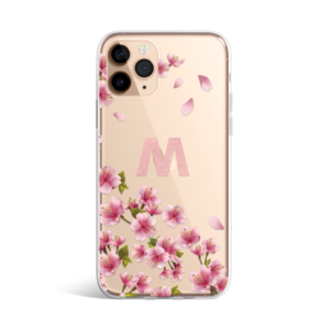Cherry Blossoms Monogram iphone 11 case