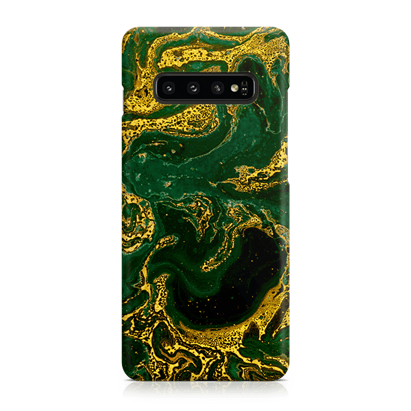 Emerald Gold Samsung s10 snap case
