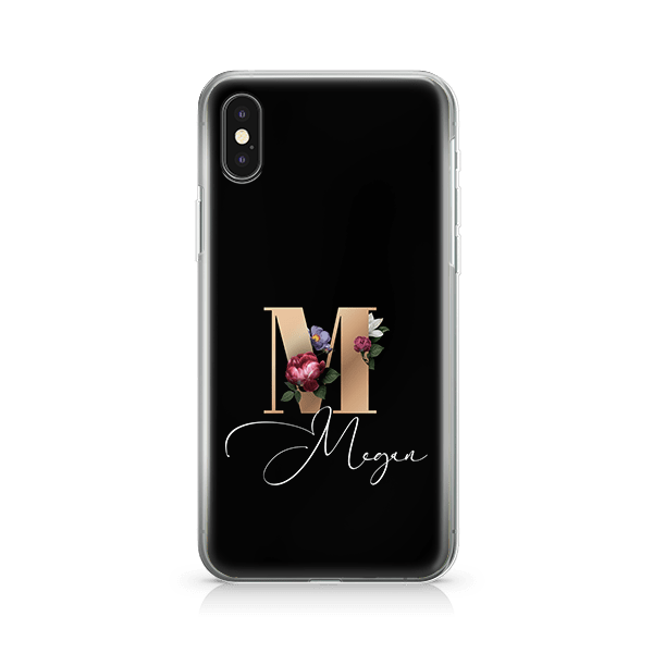 Floral Initial iPhone 10 Case