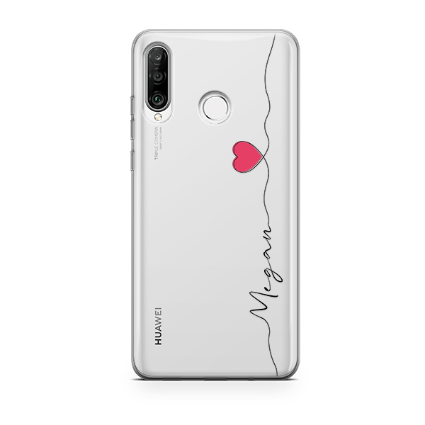 Handwritten Heart Huawei p30 lite case