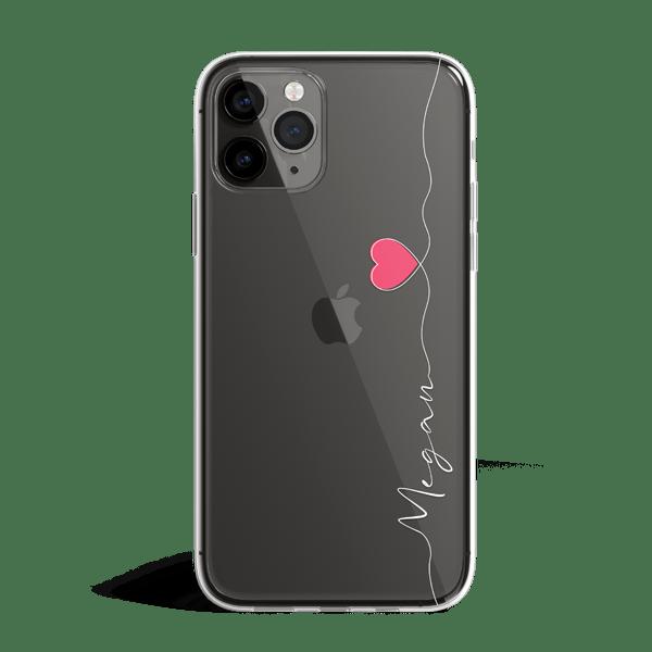 Handwritten Heart iPhone 11 Case Space Grey