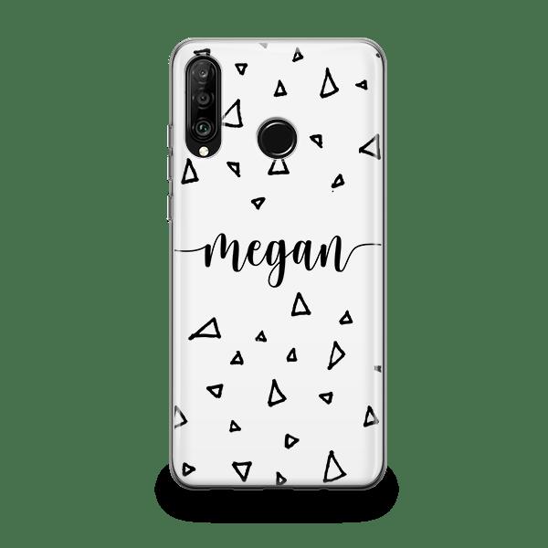 Scribble Monogram Huawei P30 Lite Case