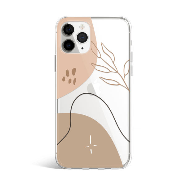 Neutral Modernism iphone 11 case silver
