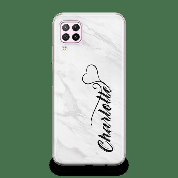 White Marble Monogram iPhone 11 Case