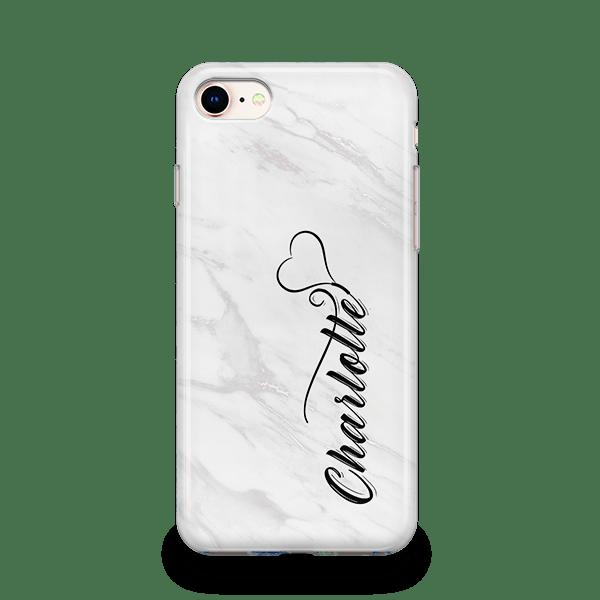 White Marble Monogram iPhone 12 Case