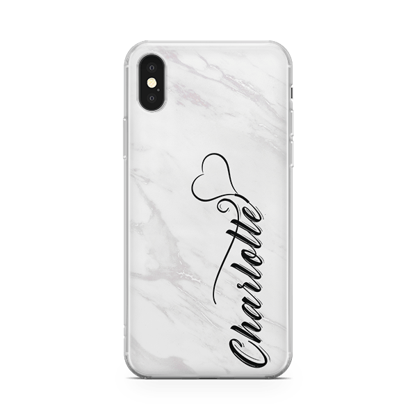 White Marble Monogram iPhone 11 Case