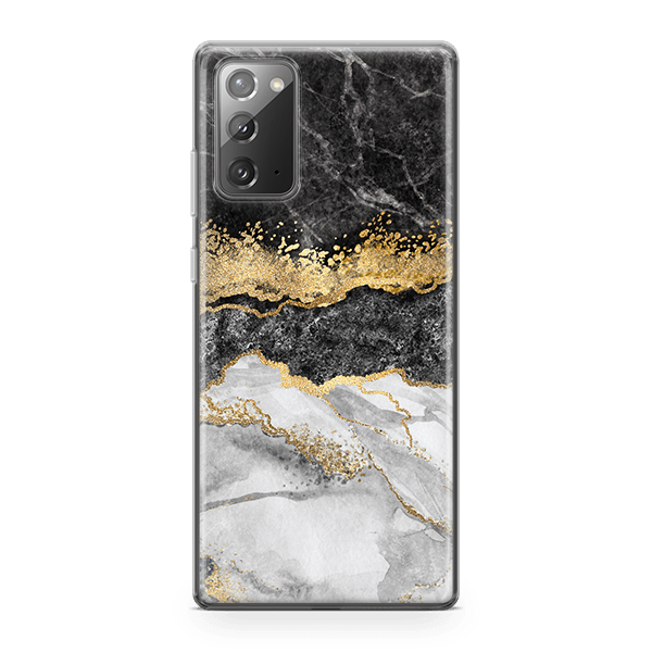 Black & White Marble Split iphone 11 case