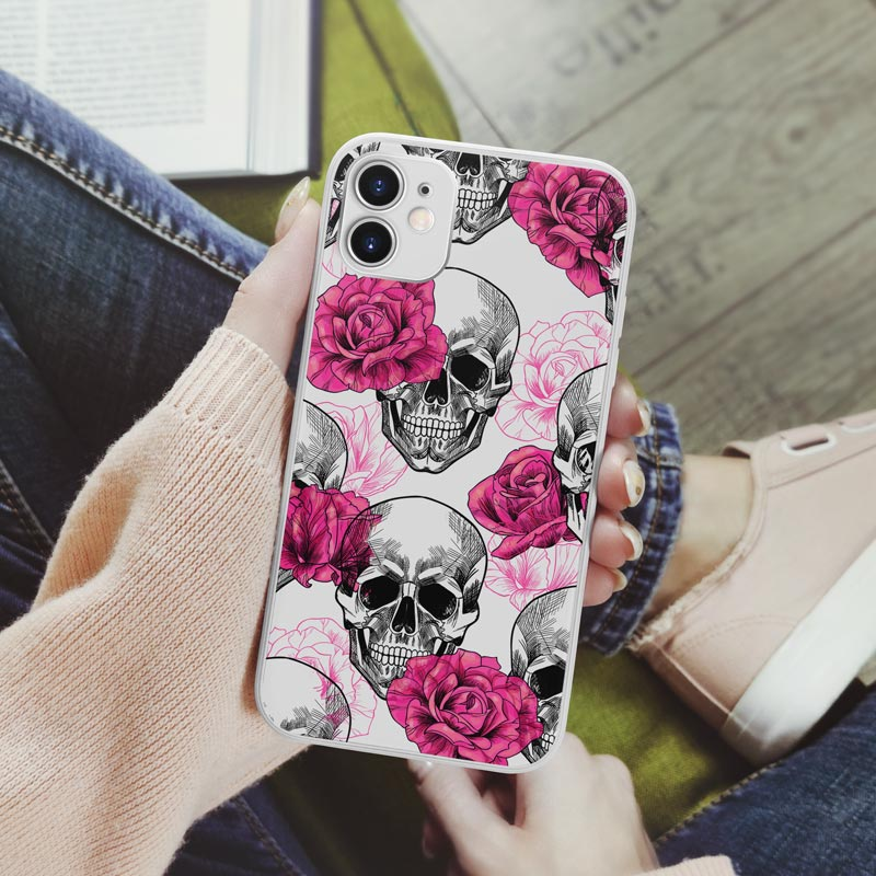 Pink-Skull-Phone-Cover