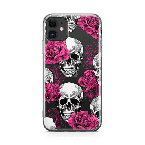 pink skull iphone 12 case