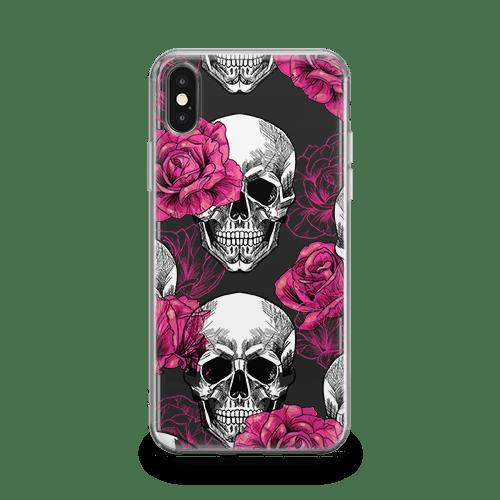 pink skull iphone 12 case