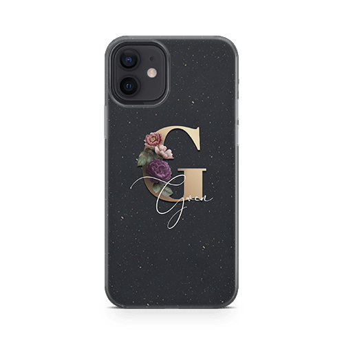 Floral Initial Eco iphone 12 case