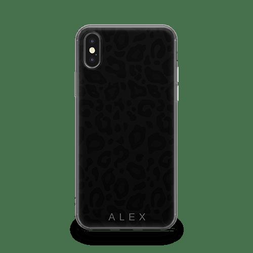 Noir Leopard iphone 12 case