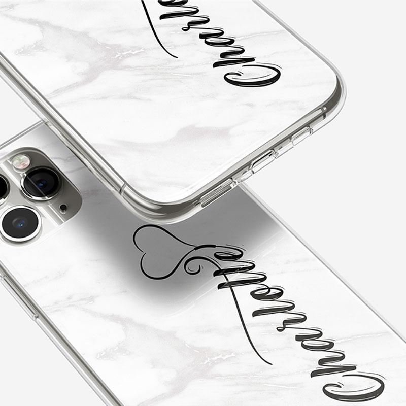 White-Marble-Monogram-Mobile-Phone-Case
